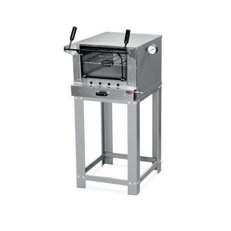 Imagem de Forno de pizza industrial pequeno gás pedra refratária