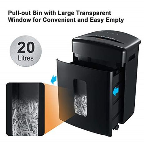 Imagem de Fragmentadora de papel em partículas 15 folhas 20 litros 110v - C-221A