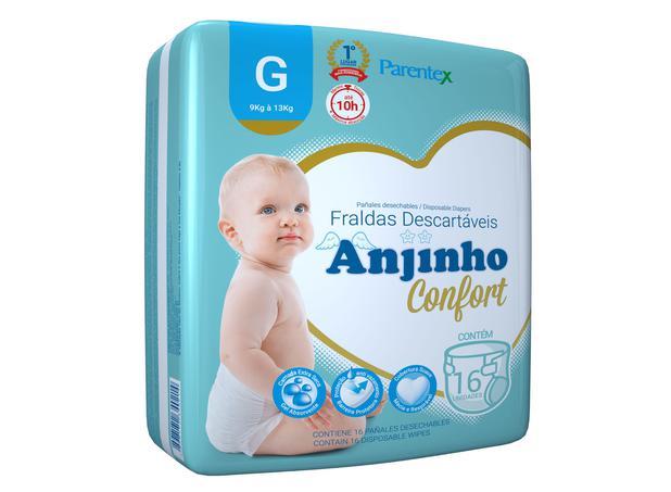 Imagem de Fralda Anjinho Confort Tam. G c/ 16 unidades Parentex