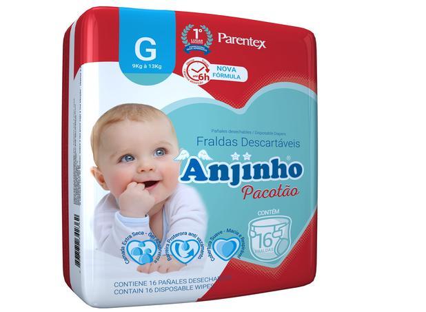 Imagem de Fralda Anjinho Pacotão Tam. G c/ 16 unidades Parentex