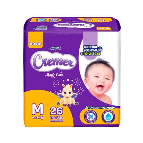 Imagem de Fralda Cremer Disney Baby Tamanho M Pacote Prática com 26 Fraldas Descartáveis