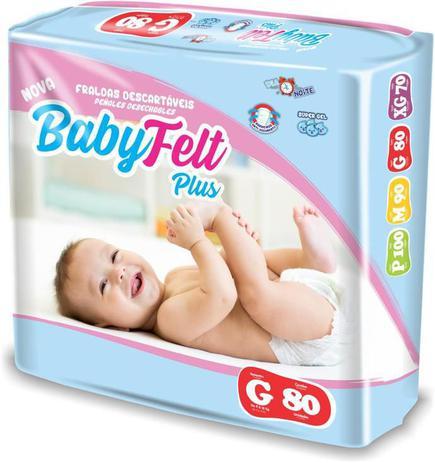 Imagem de Fralda Descartável Baby Felt Noturna Infantil G - 80 Unidades Atacado
