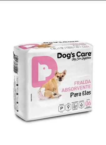 Imagem de Fralda Femea tam P Dogs Care 6 unidades