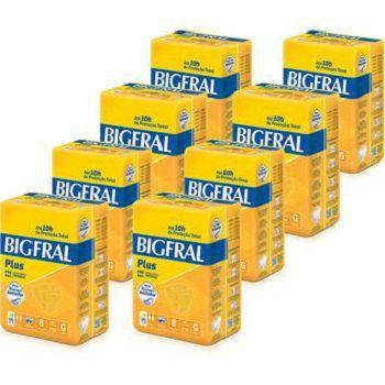 Imagem de Fralda Geriatrica Bigfral Plus tamanho G- Fardo com 8 Pacotes