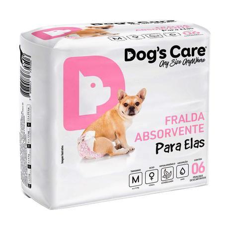 Imagem de Fralda Higiênica Dogs Care Cães Fêmeas com Gel 6 Unidades - Tamanho M