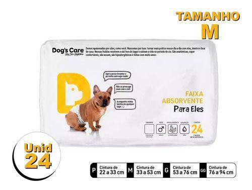 Imagem de Fralda Higiênica P/cães Machos - Dog's Care Tam M - 24 Unid