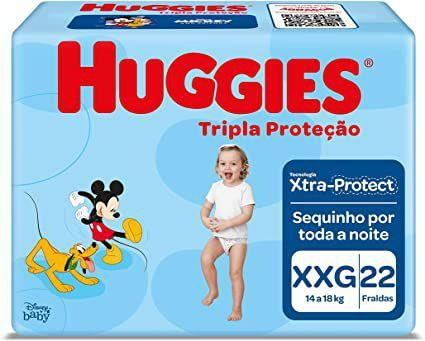 Imagem de Fralda huggies tripla proteção jumbo xxg 22 uni