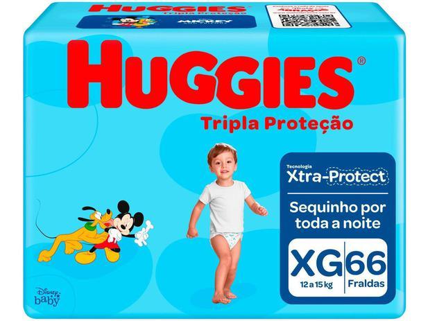 Imagem de Fralda Huggies Tripla Proteção - Tam. XG 12 a 15kg 66 Unidades