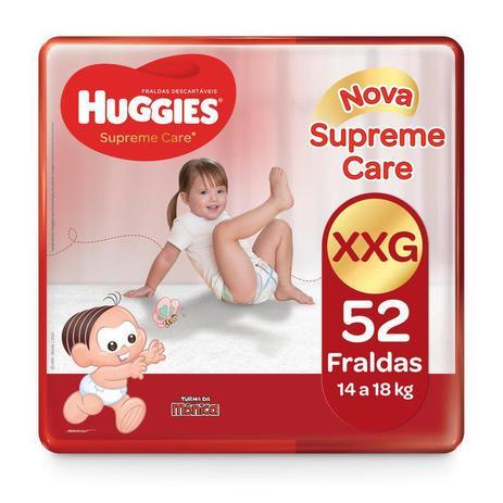Imagem de Fralda Huggies Turma Da Mônica Supreme Care Hiper XXG - 52 Unidades