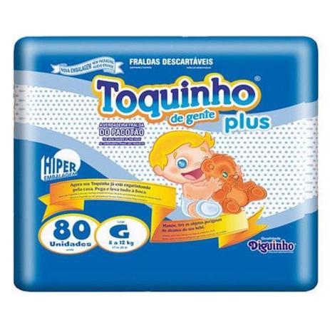 Imagem de Fralda Infantil Toquinho Plus - G c/ 80 unidades