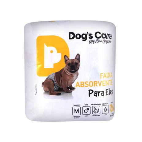 Imagem de Fralda macho tam m - pacote c/ 6 unidades - dogs care