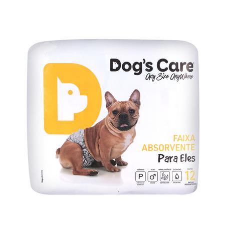 Imagem de Fralda macho tam p - pacote c/ 12 unidades - dogs care