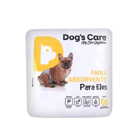 Imagem de Fralda macho tam p - pacote c/ 6 unidades - dogs care