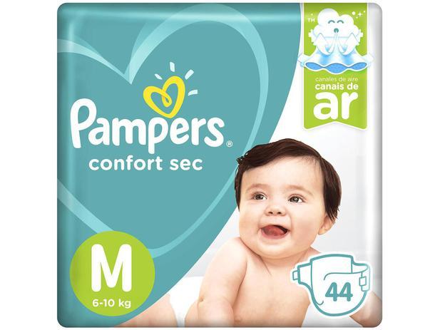 Fralda Pampers Confort Sec Tam. M 44 Unidades - Extra Sec Pods
