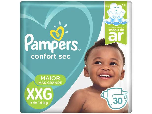 Fralda Pampers Confort Sec Tam. XXG 30 Unidades - Extra Sec Pods