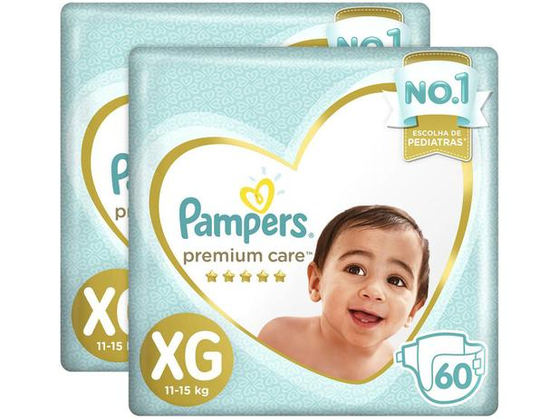 Imagem de Fralda Pampers Premium Care XG 2 Pacotes