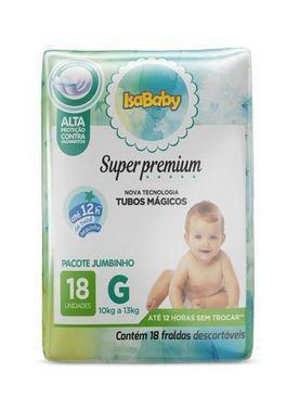 Imagem de Fralda Super Premium Jumbinho G 8 Pacotes com 18 Unidades Isababy