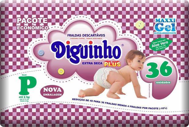 Imagem de Fraldas Diguinho Plus Economica P - 36 Unidades
