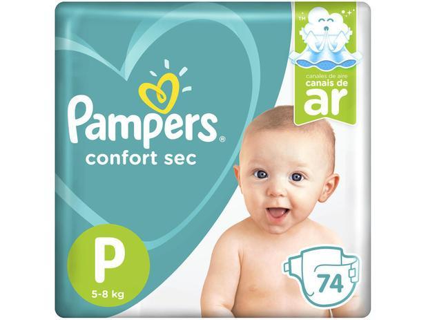 Fraldas Pampers Confort Sec Tam. P 74 Unidades - Extra Sec Pods