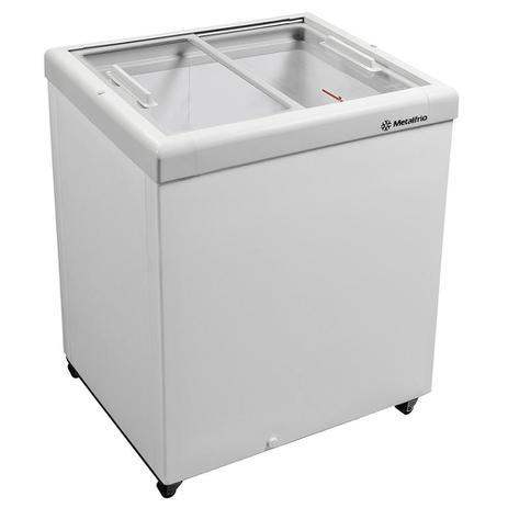 Imagem de Freezer Horizontal Tampa de Vidro para Sorvetes e Congelados 160 Litros HF20S  Metalfrio
