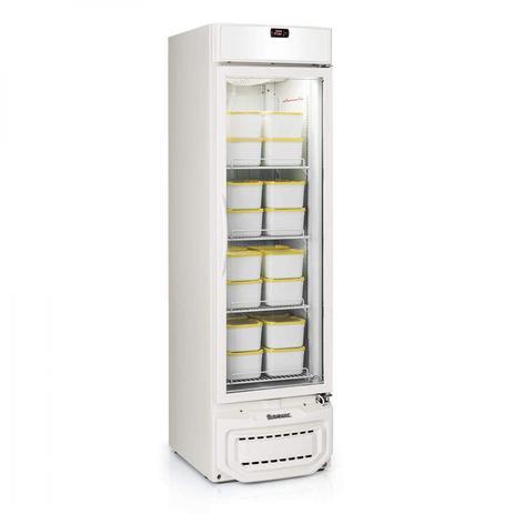 Imagem de Freezer Vertical Esmeralda  Porta de Vidro 315L Profissional Gelopar 220V Branco