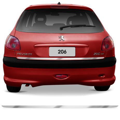 741b9aca3 Friso Cromado Resinado Traseiro Porta Malas Peugeot 206 99 a 10 e 207 07 a  13 Excelente Fixação - Resitank