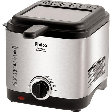 Imagem de Fritadeira Elétrica 1,8L Philco Deep Fry Inox Prata e Preta 127V