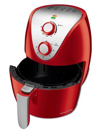 Imagem de Fritadeira Elétrica Air Fryer 3.5 Litros Mondial Family IV AF32I Vermelha e Prata 127V