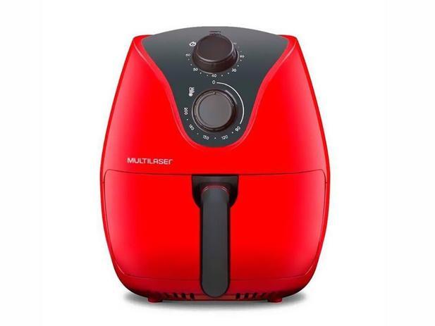 Imagem de Fritadeira Elétrica Air Fryer 4L  1500W  Multilaser Vermelha - CE083