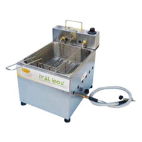 Imagem de Fritadeira Elétrica/Gás Industrial 5 Litros Óleo Fogei5 - Ital Inox / 220v