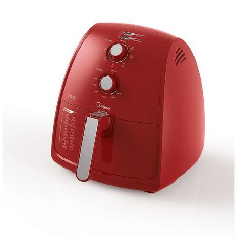 Imagem de Fritadeira Sem Oleo Air Fryer Midea 4 Litros 200C 1500W FRV41 Vermelha