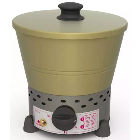 Imagem de Fritadeira Tacho Fritador Elétrico Progás 1 Litro Aço Inox 220V