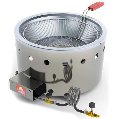 Imagem de Fritadeira Tacho Progás 7 Litros à Gás GLP Alta Pressão Inox