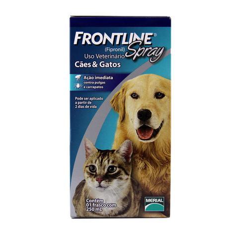 Imagem de Frontline Spray 250ml Merial Antipulgas Carrapatos Cães Gatos - Descrição marketplace