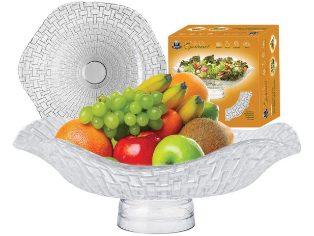 Fruteira de Mesa de Vidro Ruvolo Redonda - Gourmet Bari