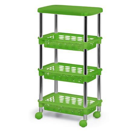 8c87a4a07 Fruteira / Organizador com 3 Cestas e Tampo Retangular Verde 369-3 -  Niquelart