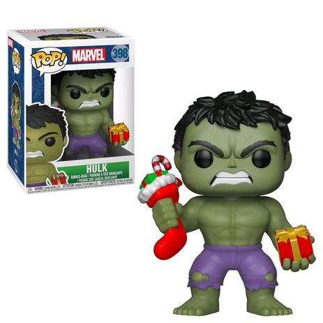 cca8bf8dce6 Funko Pop Marvel  Hulk - Hulk with Stocking 398 - Funko - Magazine Luiza