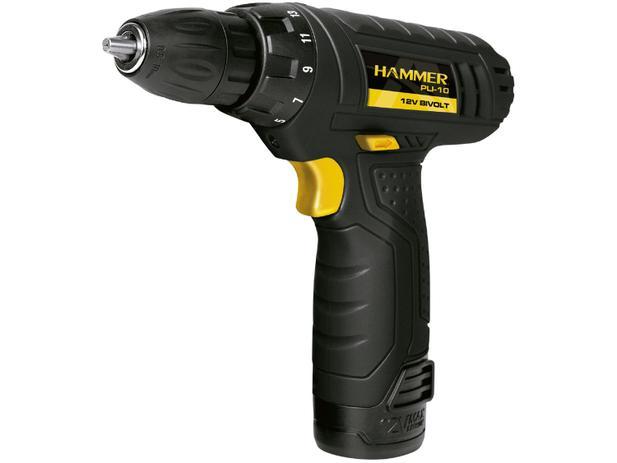 Imagem de Furadeira e Parafusadeira a Bateria Hammer 12V