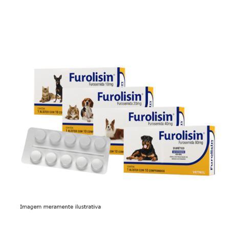 Imagem de Furolisin (Furosemida) Diurético Para Cães e Gatos 10 Comprimidos - Vetnil