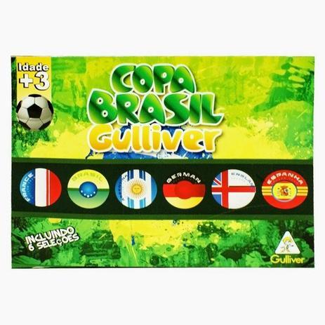Futebol de Botão Cristal Copa Brasil 6 Seleções - Gulliver ... 12fd3ff641511