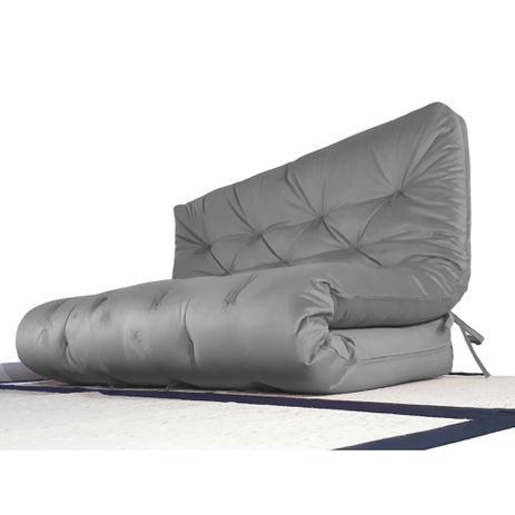 Imagem de Futon Sofa Cama Casal 1,30m x 1,90m Cinza