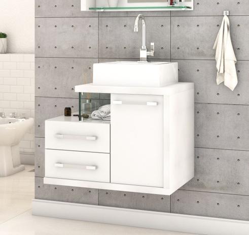 Imagem de Gabinete Armário p/Banheiro (Balcão C/cuba Q355) Legno 650