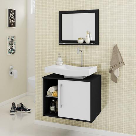 Gabinete Armário Para Banheiro Com Pia Wave Docelar