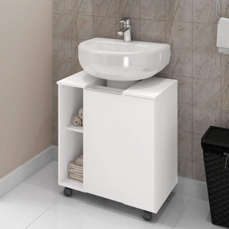 Imagem de Gabinete de Coluna 1 Porta Pequin Móveis Bechara Branco