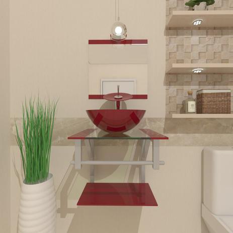 Imagem de Gabinete de Vidro 40cm para banheiro Croácia