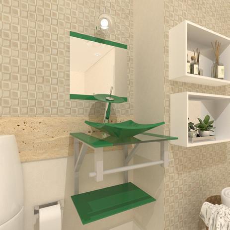 Imagem de Gabinete de Vidro 40cm para banheiro Quadrado - Armênia