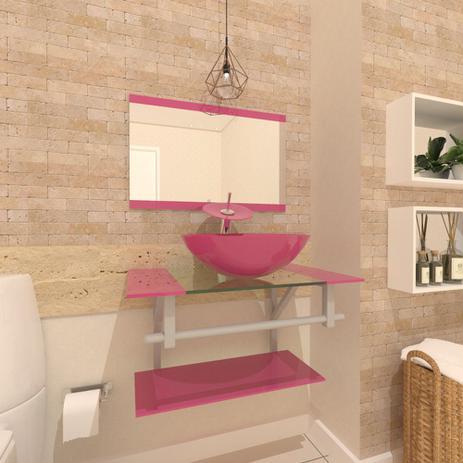 Imagem de Gabinete de Vidro 60cm para Banheiro Cuba Redonda - Estônia