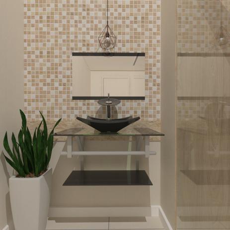 Imagem de Gabinete de Vidro 60cm para banheiro Ucrânia