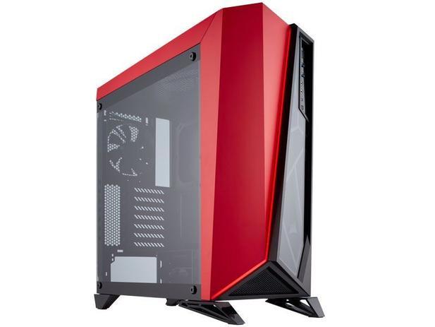 477a93e06c0 Gabinete Gamer Corsair CC-9011120-WW SPEC-OMEGA RGB com Vidro Temperado  PRETO VERMELHO
