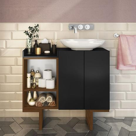 Imagem de Gabinete para Banheiro com 2 Portas e 2 Prateleiras Set - Estilare